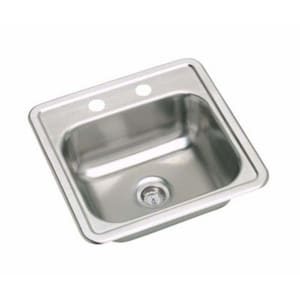 PROFLO® 15 X 15 In. 23 Gauge Stainless Steel Bar Sink PFSR15156