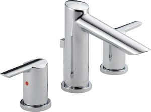 Delta Faucet Compel® Widespread Lavatory Faucet with Double Lever Handle D3561MPUDST