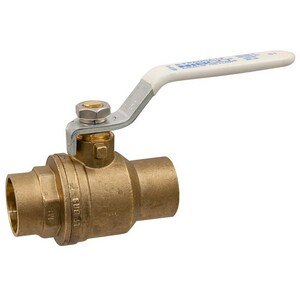 Nibco Solder x Sweat 2-Piece Brass Ball Valve with Lever Handle NSFP600ALF