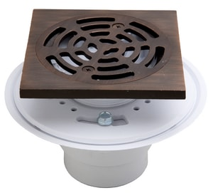 Proflo 2 In Pvc Adjustasble Shower Drain With Square Top