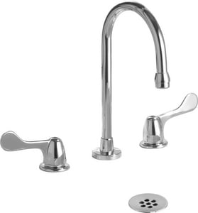 Delta Faucet HDF Commercial® 1.5 gpm Double Wristblade Handle Widespread Lavatory Faucet in Polished Chrome D3579LFWFHDF