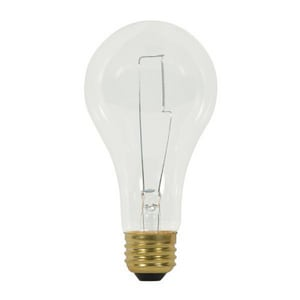 Satco A23 Dimmable Incandescent Light Bulb with Medium Base SS3958