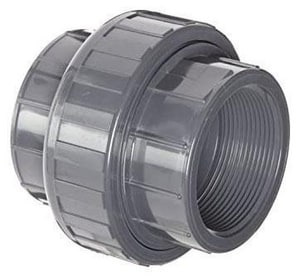 Spears FIPT Straight Schedule 80 PVC Union with EPDM O-Ring Seal S898