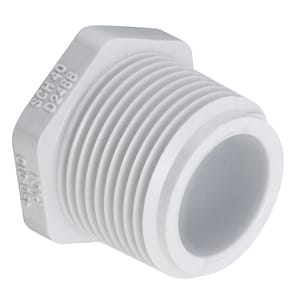 Schedule 40 Threaded PVC Plug S450