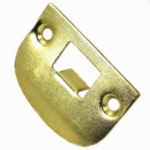 Kwikset Full Lip Square Corner Strike Plate in Brass K83437FULLLIPSQCOR