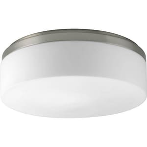 Progress Lighting Maier 26W 2-Light Compact Fluorescent Ceiling Light in Brushed Nickel PP391109WB