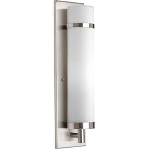 Progress Lighting 26W 1-Light Wall Sconce in Brushed Nickel PP708209