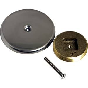 Lincoln Products® 2 in. Clean Out Cover Plate with Countersunk Brass Plug LIN118862