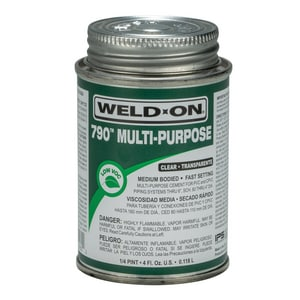 Weld-On 1/4 pt Multi-Purpose Medium Body Cement in Clear I10260