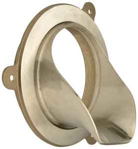Zurn Industries No-Hub Downspout Nozzle With Flange Ring in Nickel Bronze ZZANB1996NH
