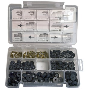 Lincoln Products® Beveled Bibb Washer and Screw Boxed Kit LIN110109