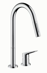 Axor Citterio M 2.2 gpm Single-Handle Deck Mount Kitchen Sink Faucet 150° Swivel AX34822