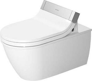 Duravit USA Darling 1.6 gpf Elongated Wall Mount Toilet in White Alpin D2544590092