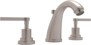 Rohl Avanti 3-Hole Deckmount Widespread Lavatory Faucet with Double Metal Lever Handle RA1208LM2