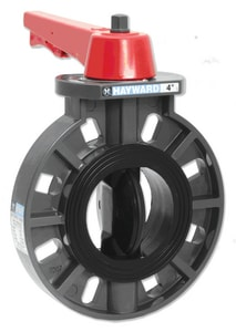 Hayward Industrial Products PVC Wafer Butterfly Valve HBY11000EL