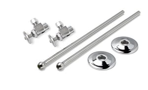 McGuire Manufacturing Premiere Heavy Wheel Handle Lavatory Supply Kit IPS x OD Angle Stop Valve MLFH165
