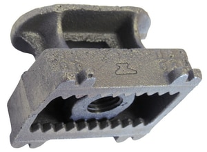 Square Nut for Concrete Insert in Black G282