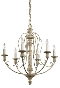 Kichler Lighting Hayman Bay™ 60W 6-Light Candelabra Base Incandescent Chandelier KK43257