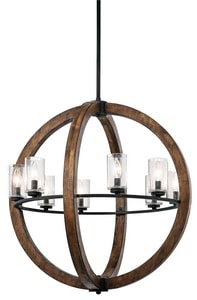 Kichler Lighting Grand Bank™ 60W 8-Light Pendant KK43190