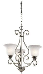 Kichler Lighting 100W 3-Light Medium Incandescent Chandelier KK43223