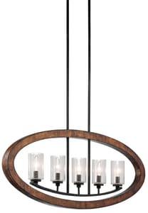 Kichler Lighting Grand Bank™ 60W 5-Light Candelabra Base Incandescent Chandelier KK43186