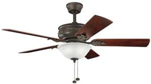 Kichler Lighting Athens 52 in. 5-Blade Ceiling Fan with Light Kit KK300158