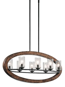 Kichler Lighting Grand Bank™ 60W 8-Light Candelabra Base Incandescent Chandelier in Auburn Stained KK43191AUB