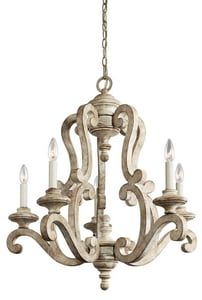 Kichler Lighting Hayman Bay™ 29-3/4 in. 60W 5-Light Candelabra Incandescent Chandelier KK43256