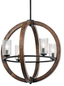 Kichler Lighting Grand Bank™ 60W 4 -Light Pendant KK43185