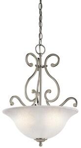 Kichler Lighting Camerena™ 100W 3-Light Inverted Pendant in Brushed Nickel KK43227NI