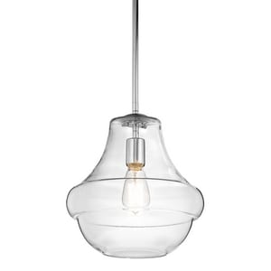 Kichler Lighting Everly 60W 1-Light Medium Pendant with Bulb KK42044