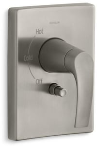 Kohler Symbol® Pressure Balancing Valve Trim with Push-Button Diverter and Single Lever Handle KT98758-4