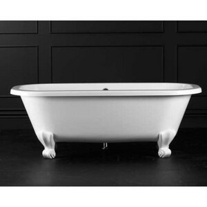 Victoria & Albert Bath Richmond Double Ended Bath Tub Less Feet in White VRICNSW