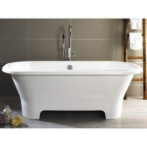 Victoria & Albert Bath Como 65 3/4 x 29 1/8 in. Bathtub in White VCOMNSW
