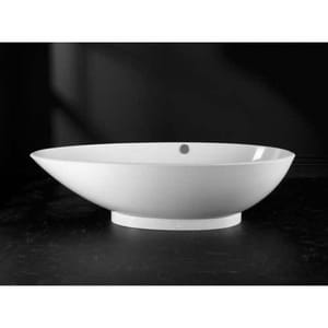 Victoria & Albert Bath Napoli Contemporary Slipper Tub with Left-Hand Drain in White VNAPNLH