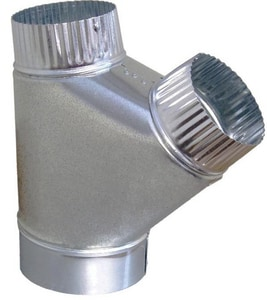 Snappy 8 in. x 6 in. x 6 in. 26 ga Galvanized Steel Airflow Wye SNA719866