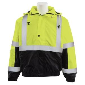 ERB Safety XXXL Size Bomber Jacket Lime & Black E61595
