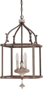 Capital Lighting Fixture Chateau 29-1/2 in. 60 W 3-Light Candelabra Pendant C9472FO