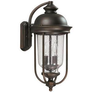 Capital Lighting Fixture York 10-1/2 in. 60 W 2-Light Candelabra Lantern in Old Bronze C9582OB