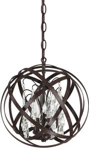 Capital Lighting Fixture Axis 13-1/4 in. 60 W 3-Light Candelabra Pendant C4233RSCR