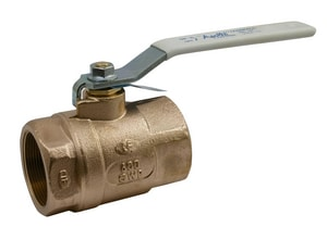 Apollo Conbraco 70LF-100 Series 600# Threaded Bronze Standard Port Ball Valve with Lever Handle and Nut A70LF1010