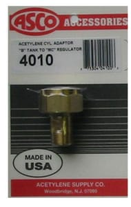 Acetylene Supply Torch Adapter for B Tank to MC Regulator A4010