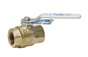 Apollo Conbraco 77CLF-A Series 600 psi CWP Solder Bronze Full Port Ball Valve with Insulating Handle A77CLF2011