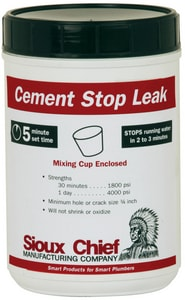 Sioux Chief Leak Stop Cement S96305