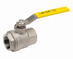 Apollo Conbraco 76F Series 1000psig FNPT Threaded Stainless Steel Full Port Ball Valve with Latch-Lock Lever Handle A76F10A1A
