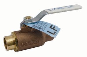 Apollo Conbraco 70LF-200 Series 600 psi Solder Bronze Ball Valve with Latch-Lock Lever Handle A70LF2027