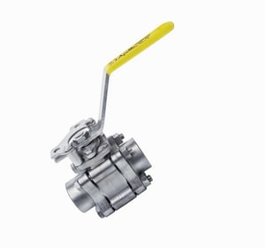 Apollo Conbraco 86A-100 Series 150psig NPT x Socket Weld Stainless Steel Full Port Ball Valve with Spring Return Handle A86A1063SR