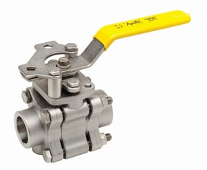 Apollo Conbraco 86A-200 Series 150psig Socket Weld Stainless Steel Full Port Ball Valve with Spring Return Handle A86A20SR
