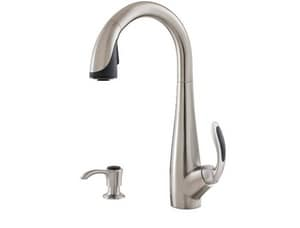 Pfister Nia™ 1 or 3-Hole Pull-Down Kitchen Faucet with Single Lever Handle PGT529NI