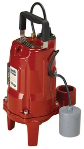 PRG Series 2 in. 1 hp Submersible Grinder Pump with Piggyback Tether Float